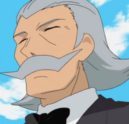 Comically oversized Mustace man Paul