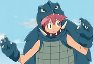 Natsumi as a moster