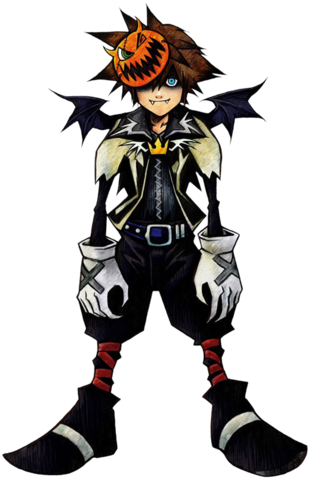 File:Sora- Halloween Form (Art) KH.png