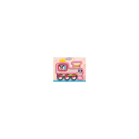 Kirby siendo el tren e Hilván dentro de él.