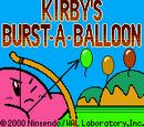 Kirby's Burst-a-Balloon