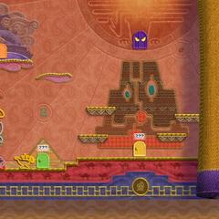 Kirby en el mapa de Calorlandia.