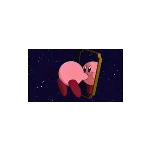 Kirby en un momento de la transformación en Espejo.