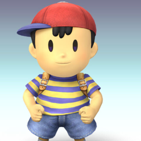 Arte de Ness en Super Smash Bros. Brawl.