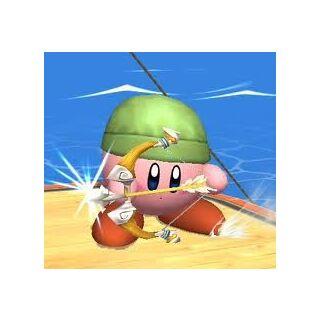 Kirby con el poder de Toon Link.