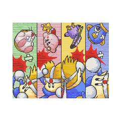 Knuckle Joe enfrentándose a Kirby y sus amigos en Kirby No Kira Kira Kids.
