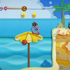 Kirby junto a un Waddle Dee con arco.