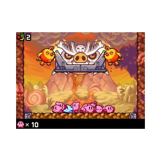 Dos Clocós llevando el pedestal a los Kirbys.