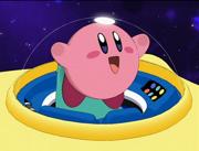 Kirby llega a Pueblo Cappy.png