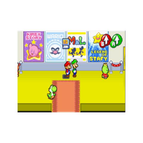 Kirby, Wario y Starfy en pósters.