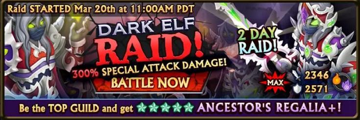 Dark Elf Raid Banner