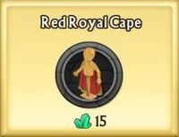 Red Royal Cape