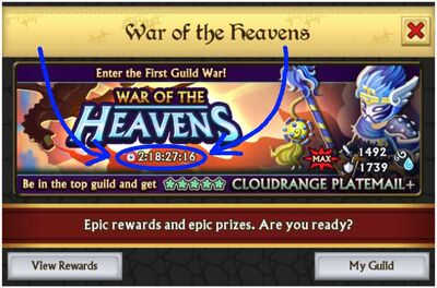 Guild war countdown timer