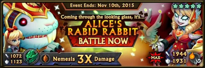 Alice's Rabid Rabbit Banner