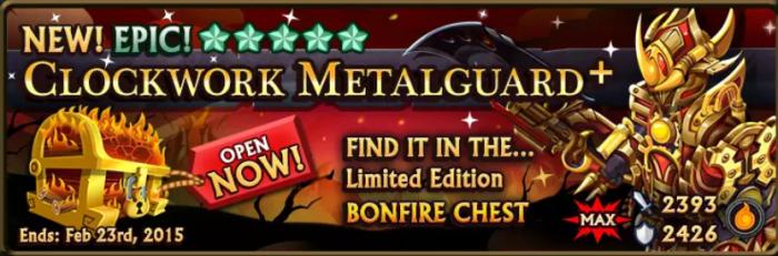 Bonfire Chest Banner