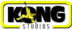 Kong studios logo outlined