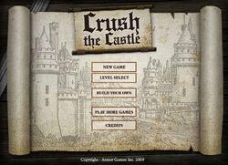 Crush the Castle title screen
