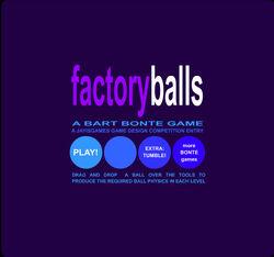 Factory Balls title screen