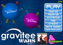 Gravitee Wars title screen