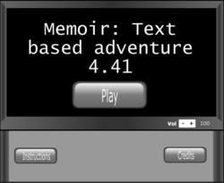 MemoirTextAdventureTitleScreen