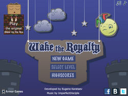 Wake the Royalty title screen