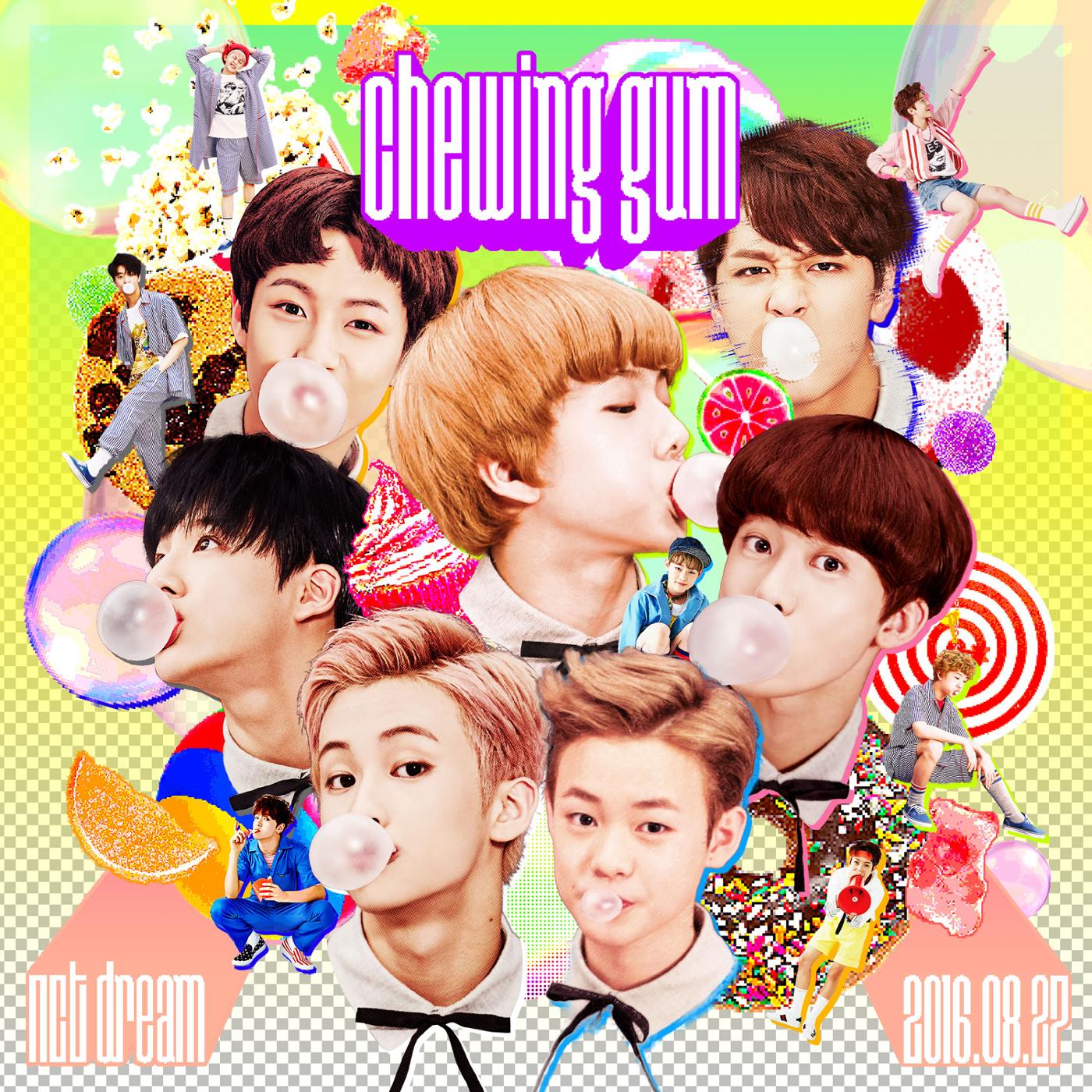 Imagini pentru nct dream chewing gum album cover