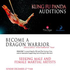 Audition poster announcing auditions in San Francisco