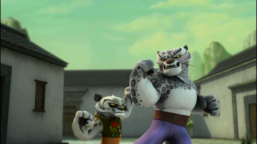 Leopard kung fu panda