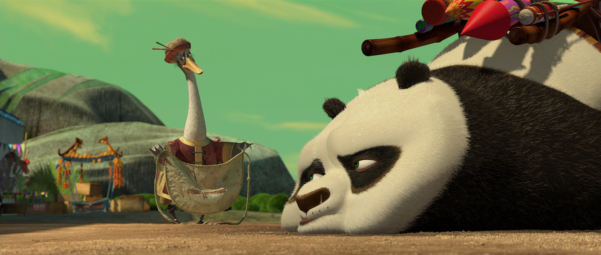 Mr Ping urging Po to get back to work. Credit: kungfupanda.wikia.com