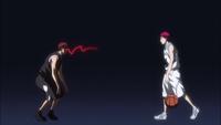Kagami's distance marking Akashi
