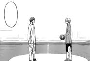 Kuroko and Akashi before the finals match