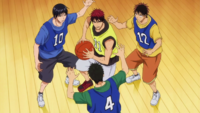 Kagami triple-teamed anime