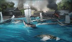 Damaged Port of Kalani's Landing
