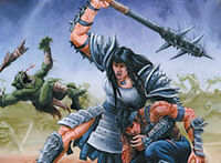 Hida Kaoru fighting Goblins