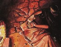 Grey Woman tending a wounded