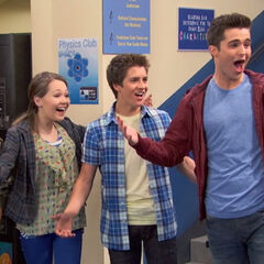 Bree, Chase and Adam greeting Marcus