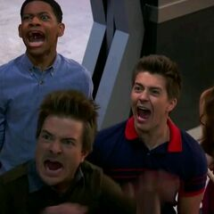 Douglas, Leo, Chase and Bree screaming