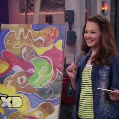 Bree finishes the painting