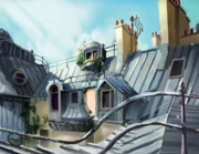 Paris Rooftops Painting