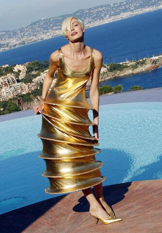 File:Pierre Cardin Spring 2009 Gold Dress.jpg