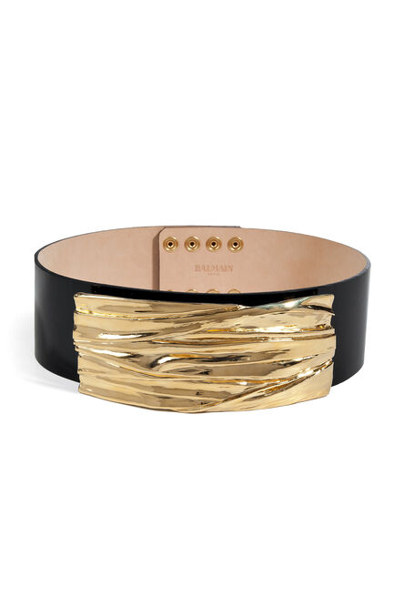 File:Balmain - Gold and black leather belt (Fall 2013 Collection).jpg