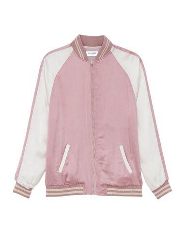 File:Saint Laurent - Teddy two-tone bomber jacket.jpg