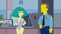 Lisa Goes Gaga Bathing Suit