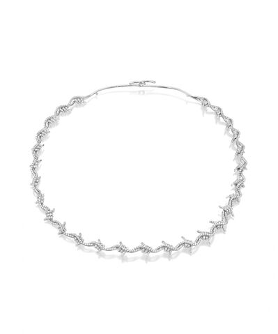 File:Lynn Ban - Barbed wire choker - Sterling silver w 3.82 ct diamonds.jpg