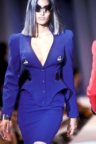 File:Thierry Mugler Spring Summer 1991 Blue Dress Suit.jpg