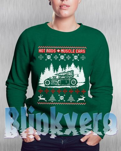 File:Hotrods & Musclecars - Christmas Ugly sweatshirt.jpg