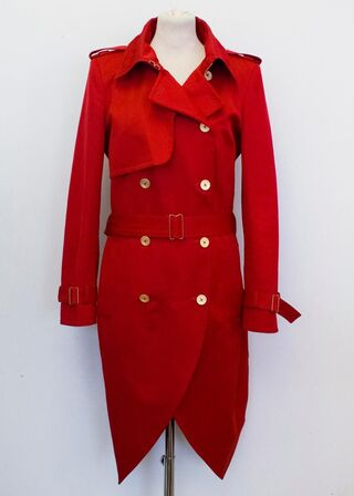 File:Yves Saint Laurent Double breasted redtrench coat.jpg