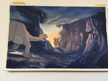 DON BLUTH Hand-Painted Original Color Key THE LAND BEFORE TIME 1988