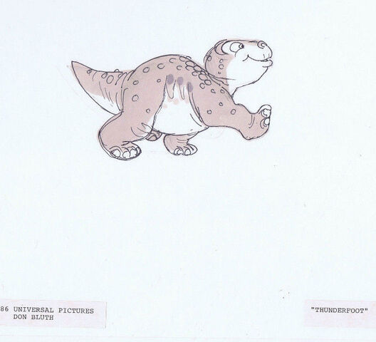 File:The Land Before Time 1988 Original Hand Drawn THUNDERFOOT Model DON BLUTH -SH.jpg