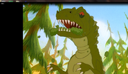 Plated Sharptooth eating green